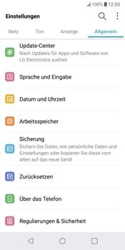 LG G6 - Fehlerbehebung - Handy zurücksetzen - 6 / 12