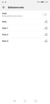 Huawei P20 - Android Pie - Rete - Selezione manuale della rete - Fase 9