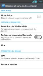 LG Optimus F5 - Internet et connexion - Désactiver la connexion Internet - Étape 5