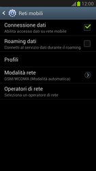 Samsung Galaxy Note II - Internet e roaming dati - Disattivazione del roaming dati - Fase 7