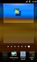 Samsung Galaxy S Advance - Startanleitung - Installieren von Widgets und Apps auf der Startseite - Schritt 5
