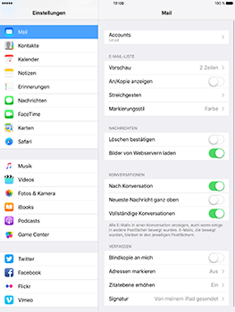 Apple iPad Pro 9.7 inch - iOS 10 - E-Mail - Konto einrichten (gmail) - Schritt 9