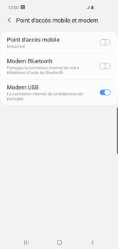 Samsung Galaxy S10 Plus - Internet et connexion - Utiliser le mode modem par USB - Étape 9
