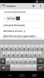 Acer Liquid Jade S - E-mail - Sending emails - Step 9