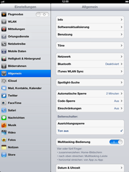 Apple iPad 3 - WLAN - Manuelle Konfiguration - 2 / 2