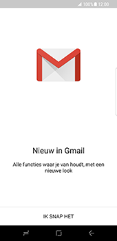 Samsung Galaxy S8 - E-mail - e-mail instellen (gmail) - Stap 5