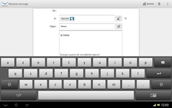 Sony SGP321 Xperia Tablet Z LTE - E-mail - envoyer un e-mail - Étape 9