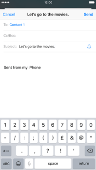 Apple iPhone 6 Plus iOS 9 - E-mail - Sending emails - Step 7