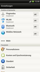 HTC One X - Internet - Manuelle Konfiguration - 4 / 23