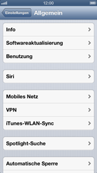 Apple iPhone 5 - Internet und Datenroaming - Manuelle Konfiguration - Schritt 4