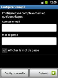 Samsung Galaxy Y - E-mail - Configuration manuelle - Étape 6