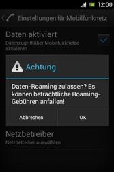 Sony Xperia Miro - Ausland - Im Ausland surfen – Datenroaming - Schritt 10