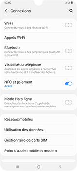 Samsung Galaxy A70 - Internet et connexion - Utiliser le mode modem par USB - Étape 5