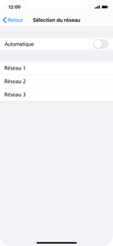 Apple iPhone X - iOS 13 - Réseau - Sélection manuelle du réseau - Étape 6