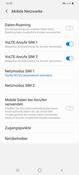 Samsung Galaxy S20 Plus 5G - Netzwerk - So aktivieren Sie eine 5G-Verbindung - Schritt 8