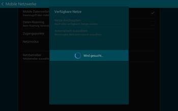 Samsung T805 Galaxy Tab S - Netzwerk - Manuelle Netzwerkwahl - Schritt 8