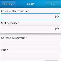 BlackBerry Q10 - E-mails - Ajouter ou modifier un compte e-mail - Étape 9
