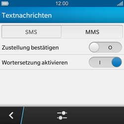 BlackBerry Q10 - SMS - Manuelle Konfiguration - 6 / 9
