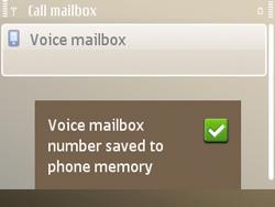 Nokia E72 - Voicemail - Manual configuration - Step 8
