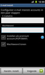 Samsung I9100 Galaxy S II - E-mail - e-mail instellen: POP3 - Stap 5