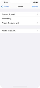 Apple iPhone 11 Pro Max - Prise en main - Comment ajouter une langue de clavier - Étape 8