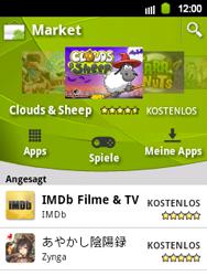 Samsung Galaxy Y - Apps - Konto anlegen und einrichten - 20 / 21