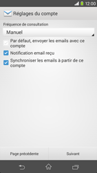 Sony D2303 Xperia M2 - E-mail - Configurer l