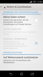 Sony D2203 Xperia E3 - Fehlerbehebung - Handy zurücksetzen - Schritt 7