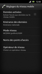 Sony Xperia U - Réseau - Sélection manuelle du réseau - Étape 6