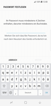 Samsung Galaxy S8 - Datenschutz und Sicherheit - Zugangscode einrichten - 7 / 15