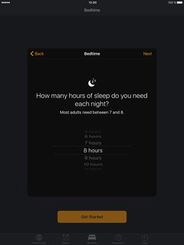 Apple iPad mini 4 iOS 10 - iOS features - Bedtime Option - Step 7