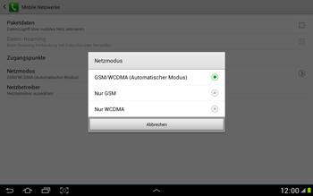 Samsung Galaxy Note 10-1 - Netzwerk - Netzwerkeinstellungen ändern - 7 / 9