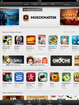 Apple iPad mini - Applicazioni - Installazione delle applicazioni - Fase 3