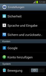 Samsung I8190 Galaxy S3 Mini - Fehlerbehebung - Handy zurücksetzen - Schritt 6