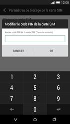HTC Desire 816 - Sécuriser votre mobile - Personnaliser le code PIN de votre carte SIM - Étape 7