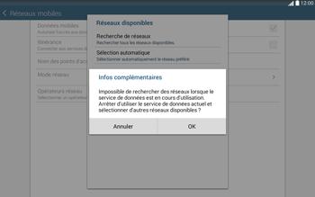 Samsung T535 Galaxy Tab 4 10.1 - Réseau - Sélection manuelle du réseau - Étape 7