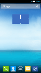 Alcatel One Touch Idol S - Getting started - Installing widgets and applications on your start screen - Step 7