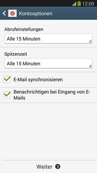 Samsung Galaxy Note III LTE - E-Mail - Manuelle Konfiguration - Schritt 16