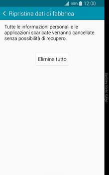 Samsung Galaxy Note Edge - Dispositivo - Ripristino delle impostazioni originali - Fase 8