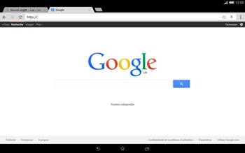 Sony Xperia Tablet Z2 LTE - Internet et roaming de données - Navigation sur Internet - Étape 7