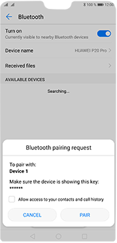 Huawei P20 Pro - Bluetooth - Connecting devices - Step 7