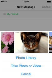 Apple iPhone 4s iOS 8 - MMS - Sending pictures - Step 8