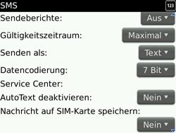 BlackBerry 9700 Bold - SMS - Manuelle Konfiguration - Schritt 5