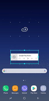 Samsung Galaxy S8 Plus - Getting started - Installing widgets and applications on your start screen - Step 7