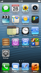Apple iPhone 5 - Getting started - Personalising your Start screen - Step 3