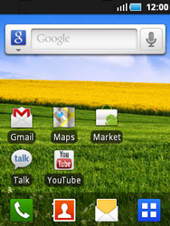 Samsung S5570 Galaxy Mini - E-mail - envoyer un e-mail - Étape 1