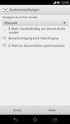 Sony Xperia V - E-Mail - Manuelle Konfiguration - Schritt 14
