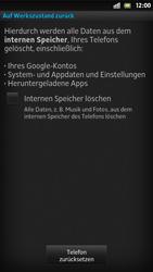 Sony Xperia S - Fehlerbehebung - Handy zurücksetzen - Schritt 8