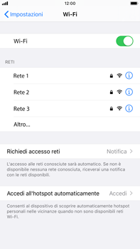 Apple iPhone 7 Plus - iOS 13 - WiFi - Configurazione WiFi - Fase 5