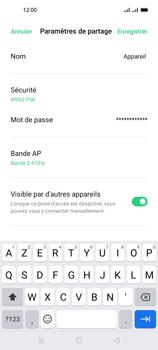 Oppo A53s - Internet et connexion - Partager votre connexion en Wi-Fi - Étape 9